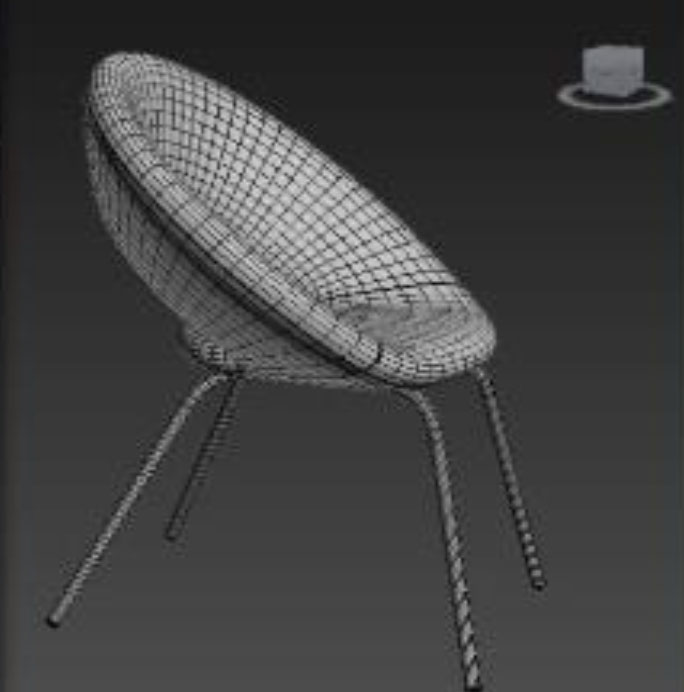 3D rendered chair